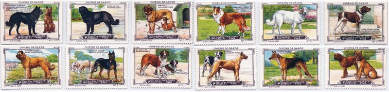 1905 (circa) Kohler Chocolate trade stamps