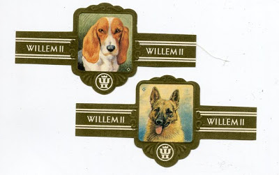 1950 Willem II Series XXVII Honden Cigar Bands