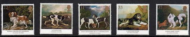 1991 United Kingdom (Great Britain) Stubbs' Dogs Postage Stamps