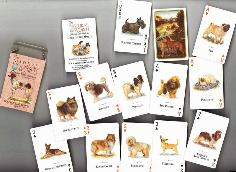 1996 US Games Systems Playing Cards Dogs of the World