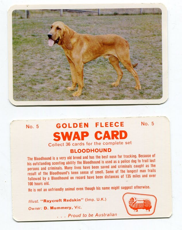 1967 Golden Fleece trade cards Dogs
