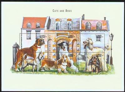 1999 Tanzania Dogs postage stamps/minature sheet