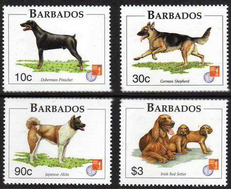 1997 Barbados postage stamps