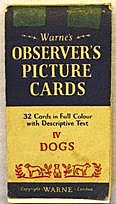 1960 (circa) Observers Picture Cards trade cards